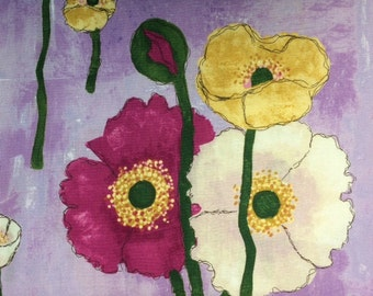 Michael Miller - GATHERED POPPIES (Orchid) - 100% Cotton Premium Quality Fabric - Per 1/2 Yard