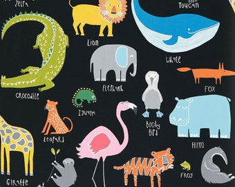 New! 30cm Drum Lampshade in gorgeous Scion Guess Who Animal Magic Cotton. Kids Bedroom, Playroom.