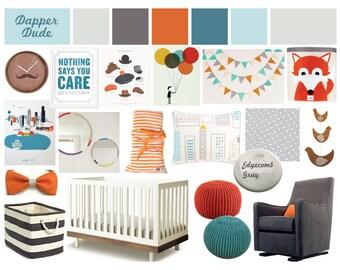 Nursery Design Board | Virtual Design Board | Design Inspiration | E-Design