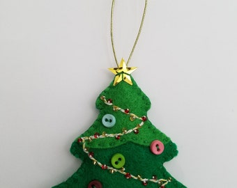 Felt Christmas Tree/ Tree Ornament/ Felt Christmas Ornament