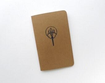 Horseshoe Crab Jotter Notebook / Nautical Ocean Pocket Journal / Plain or Graph Paper