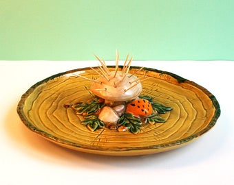 Vintage apetizer plate made in japan by Geo Z Lefton