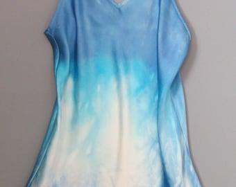 Silk blouse, hand dyed silk, silk lingerie, silk camisole, size L silk intimates, silk pajamas, silk nightshirt