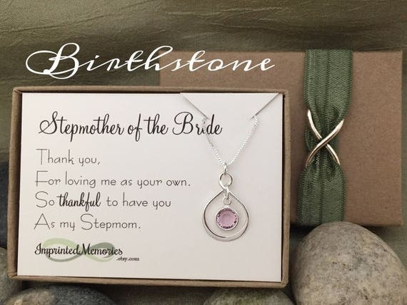 Wedding Gifts For Stepmom: StepMother Of The Bride Gift From Bride StepMom Necklace