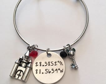 Disney coordinates etsy most magical place on earth disney world coordinates longitude latitude mickey mouse minnie disney inspired adjustable sciox Image collections