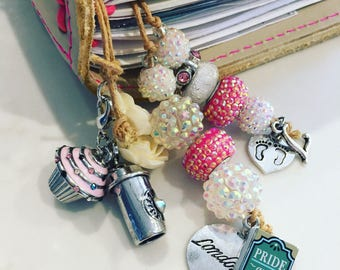 Personalized charm bookmark