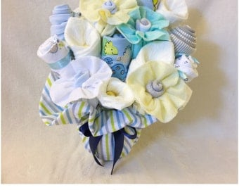 New Baby Clothes Bouquet for Boy - Dinosaurs