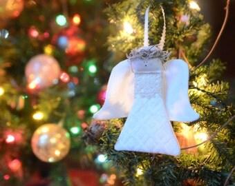 Rustic Angel Ornament