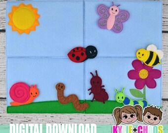 Bug Felt Playset ITH Embroidery Design