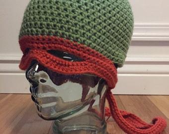Ninja Turtle Hat/Mask, Crochet Hat