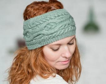Winter Headband, Knit Headband, Ear Warmer Headband, Winter Head Wrap, Turban Headband, Knitted Ear Warmer, Soft Knitted Headband
