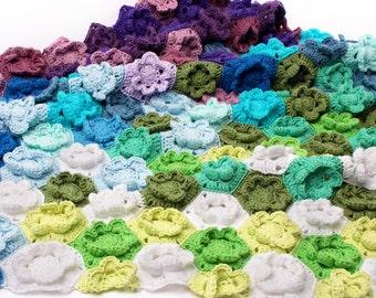 Crochet Pattern Fairytale Garden Blanket - Digital file PDF - crochet baby blanket pattern, baby girl blanket, crochet flower pattern