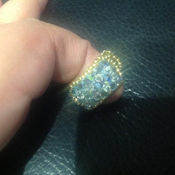 Crystal beaded rings