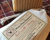 Oat Milk & Honey Soap-herb and botanical soap, natural, silk, honey, colloidal oats, soothing, mango butter, unscented, sensitive skin