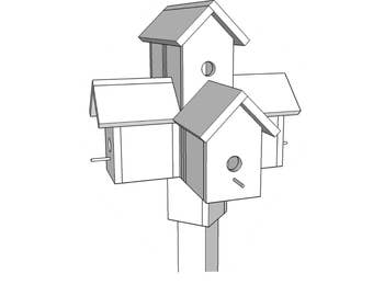 Bird Condo  - Wood plans - PDF File - Blueprints -