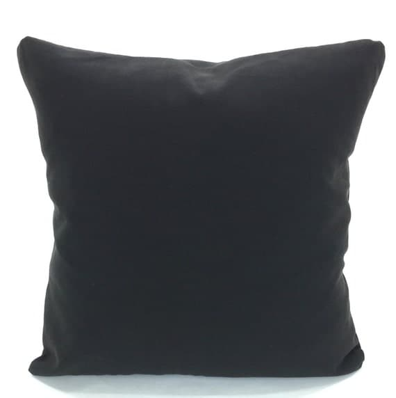 Plain Black Throw Pillow : Solid Black Pillow Covers Decorative Throw Pillows Cushions