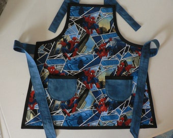 Boys Spiderman Apron Boys Apron Marvels Spiderman, Childs Àpron,Toddler Apron