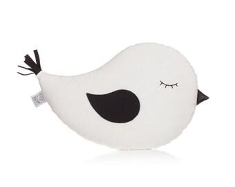 White Bird Pillow, Bird Cushion, Animal Toy, Kids Pillow, Handmade Decorative Pillow