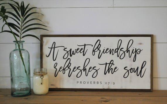 A SWEET FRIENDSHIP 1'X2' sign