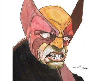 "Wolverine Print by Kevin L. Kuder - 8.5""x11"""