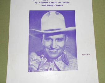 1951 Sheet Music ~ Somebody Bigger Than You and I - Gene Autry
