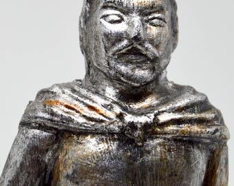 Loki - Handmade gilded sculpture - Steel finnish