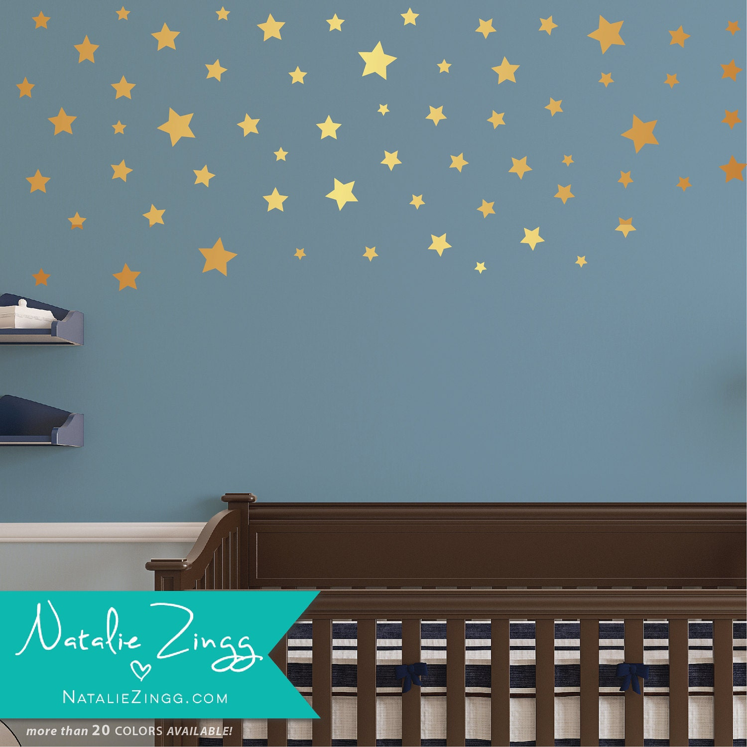 gold star wall decals any size star decals fast shipping