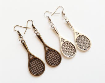 TENNIS RACKET Earrings Tennis Racket Jewelry Tennis Racket Gift Tennis Player Earrings Tennis Player Gift Tennis Player Jewelry Tennis Ball