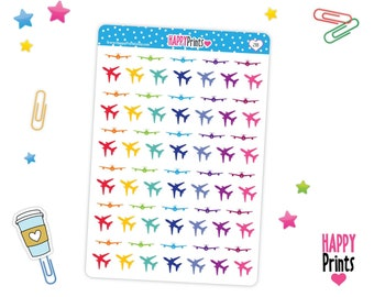 HP 288) -- Airplane Stickers, Planner Stickers
