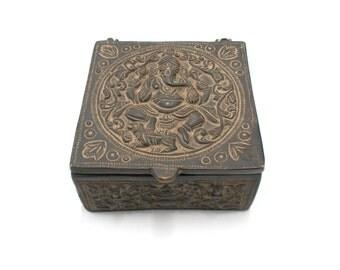 Hand Crafted Brass Jewelry Box