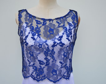 Clearance 30% lace cocktail party, royal lace cover-up Top