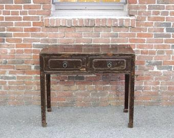30% Off Ming Style Lacquered Table, Chinese Console, Asian Console, Narrow