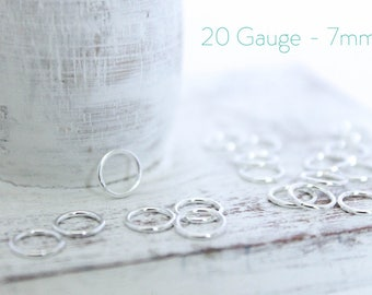 50 Pieces - Sterling Silver Closed Jump Rings - 7mm Jump Ring - Jewelry Closure - Connector - Silver Findings - Wholesale Bulk / SS-CJR002