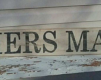 Farmers Market Distressed Farmhouse Sign