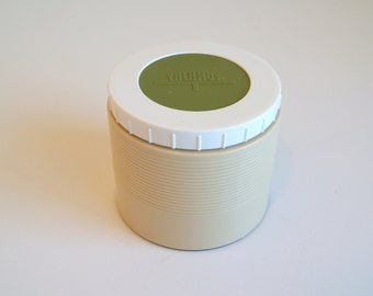 Vintage Beige & Avocado Green Thermos Insulated Snack Jar