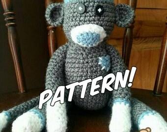Crochet Sock Monkey Doll Pattern
