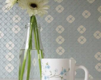 Vintage Milk Glass Mug by Arcopal France with Veronica Design 70s 16288