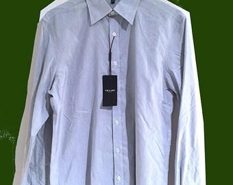 Shirt met puntige kraag fijne streep