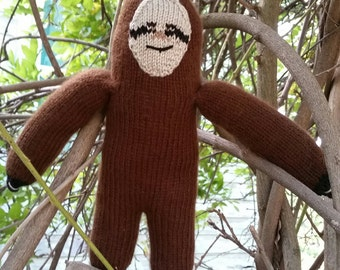 Hand Knitted Sloth