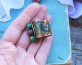 Ring copper jewelry wirewrap Aromas of Spring art. 4092