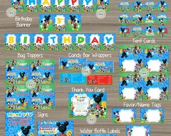Mickey Mouse Party Decorations, Mickey Mouse Clubhouse Decorations, Mickey Mouse Clubhouse Birthday, Mickey Mouse Party Package