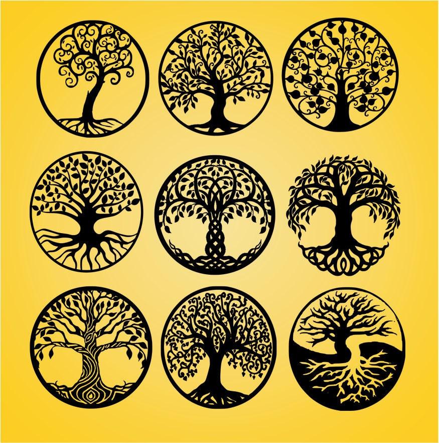 life of tree tree cut file tree cut out tree dxf tree. Black Bedroom Furniture Sets. Home Design Ideas