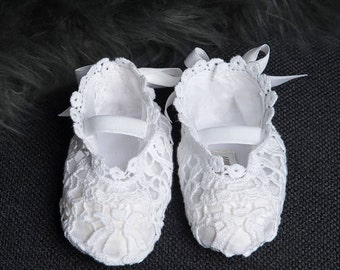 Grace White Lace Booties