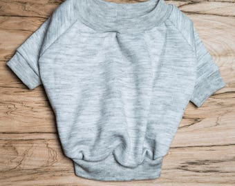 SALE PRICE - one size only - Dog / cat Jumper / Sweatshirt - Light Grey -  Handmade pet clothes - Ideal for dogs,  puppies and cats