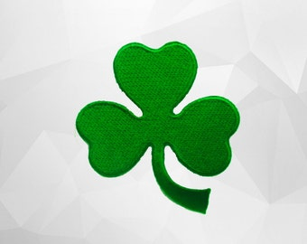 Shamrock Iron on Patch (L1) 6.7x7.5 cm - Shamrock Applique Embroidered Iron on Patch