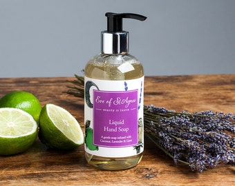 Lavender and Lime Liquid hand soap, SLS free, hand wash