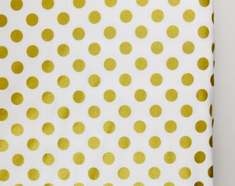 Gold dots crib sheet, cotton baby sheets, fitted crib sheets, gold baby bedding, baby crib bedding, cotton crib sheets, shimmer nursery.