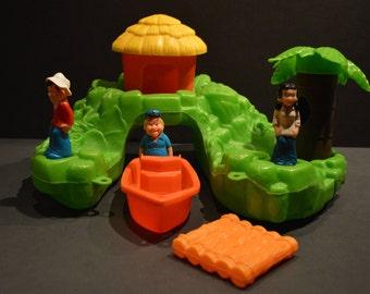 1970's Playskool Gilligan's Island Floating Island Play Set