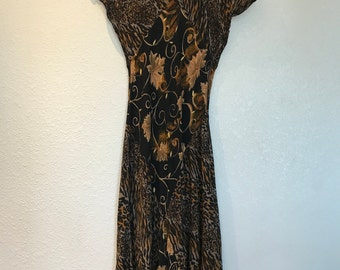 Brown patterned Karin Stevens dress