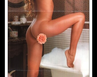 "Mature Playboy July 1978 : Playmate Centerfold Karen Elaine Morton 3 Page Spread Photo Wall Art Decor 11"" x 23"""